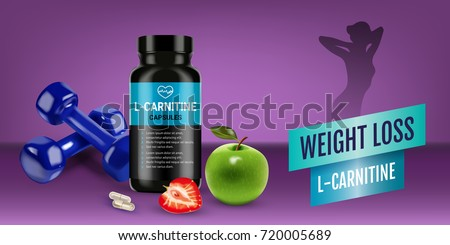 Weight Loss L Carnitine Ads Vector Realistic Stock Vector Royalty
