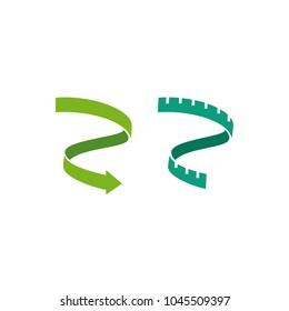 weight loss ribbon arrow