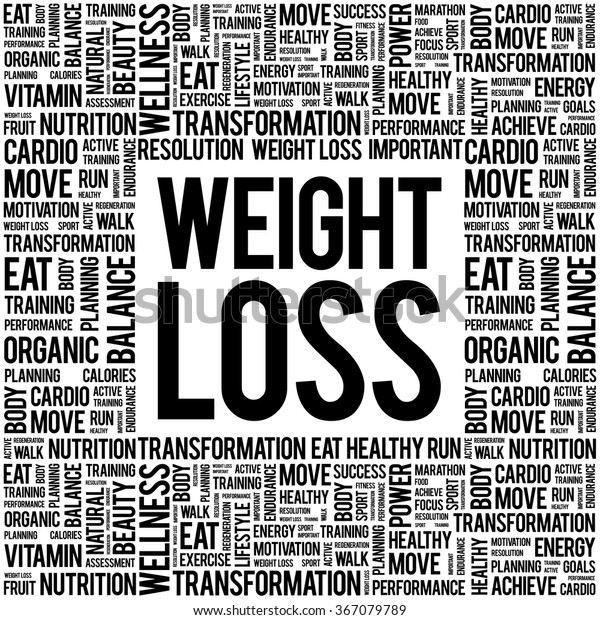 Weight Loss Word Cloud Background Health Stock Vector Royalty Free 367079789