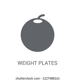 Weight plates icon. Trendy Weight plates logo concept on white background from Gym and Fitness collection. Suitable for use on web apps, mobile apps and print media.