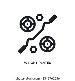 weight plates isolated icon. simple element illustration from gym equipment concept icons. weight plates editable logo sign symbol design on white background. can be use for web and mobile