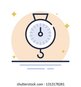 Weight Pulley Vector Icon