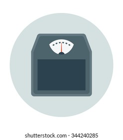 Weight Scale Colored Vector Icon