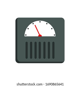 Weight Scale Flat Icon Vector Illustration