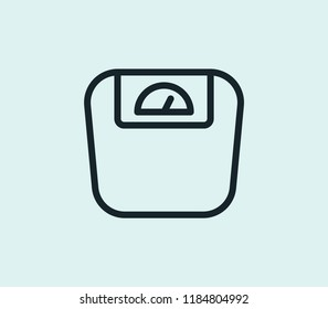 Weight scale icon line isolated on clean background. Weight scale icon concept drawing icon line in modern style. Vector illustration for your web mobile logo app UI design.