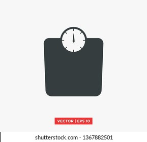Weight Scale Icon Vector Illustration