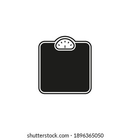 Weight scales icon design in flat style. Isolated. Vector.