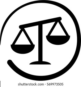 Weight, scales symbol, black and white
