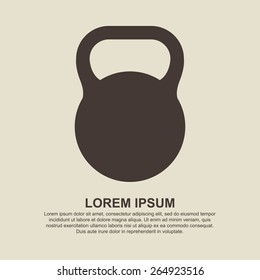 Weight sign icon, Kettlebell icon - Vector