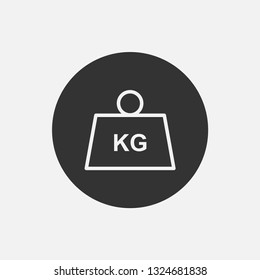 weight vector icon.kilogram, kg, measurement, mass, balance, iron, heavy,gram, ton isolated symbol for web and mobile app
