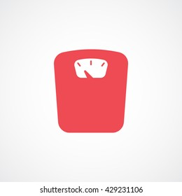 Weighting Red Icon On White Background