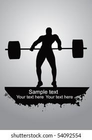 Weight-lifter vector