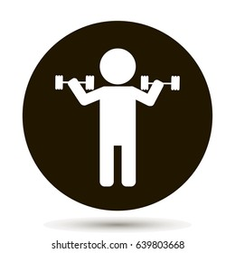 Weightlifter. Vector person