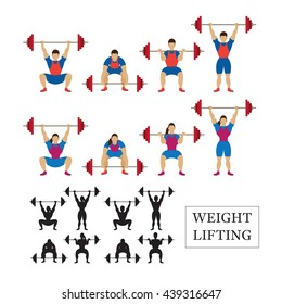 Weightlifting Athlete, Men and Women, Snatch, Clean and Jerk, Posture