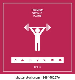 Weightlifting, dumbbell training icon. Graphic elements for your design