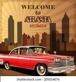 Welcome to Atlanta retro poster.