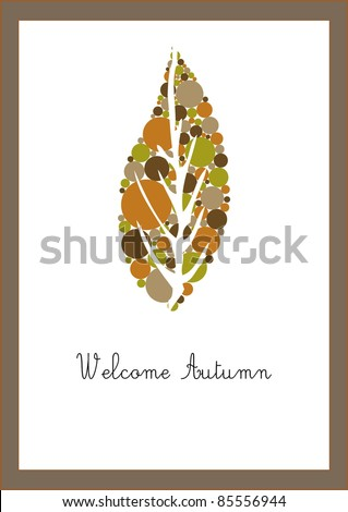 Welcome Autumn Card
