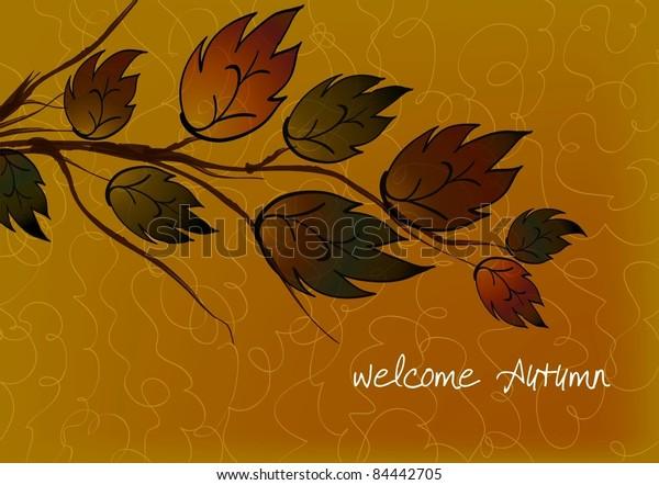 Welcome Autumn Card