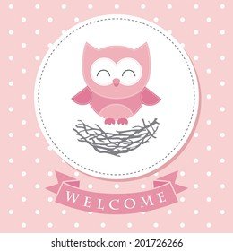 welcome baby card design. vector illustration
