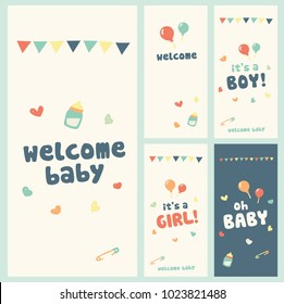 welcome baby! greeting cards set