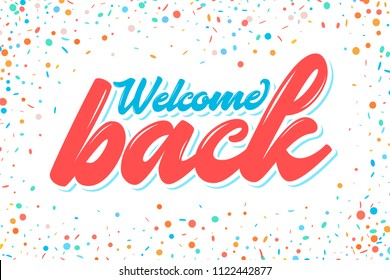 Welcome back banner.