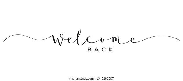 Imágenes Fotos De Stock Y Vectores Sobre Welcome Back To
