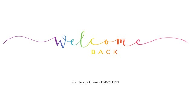 WELCOME BACK brush calligraphy banner