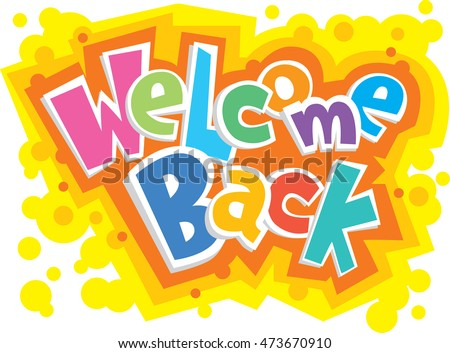 Welcome back decorative greeting card vector stock vector royalty welcome back decorative greeting card vector illustration m4hsunfo