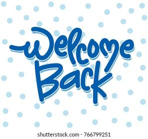 Welcome back lettering banner