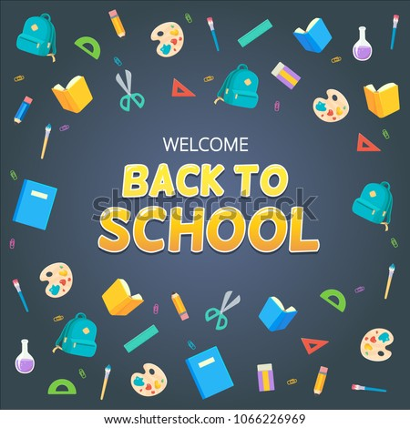 welcome back school design banners flyers stock vector royalty free