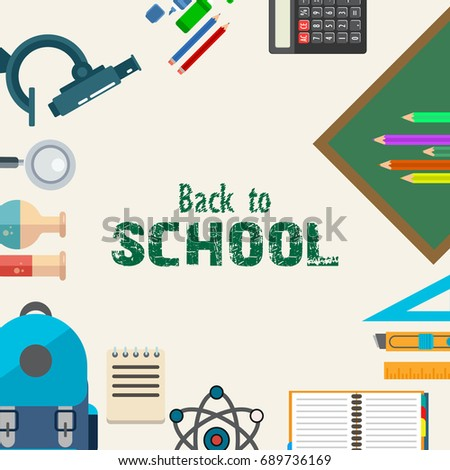 Welcome Back School Education Background Design Stock ...