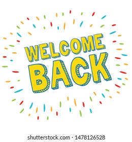 welcome back vector graphic clipart design