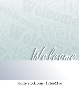 Welcome background with space for your text (EPS10 Vector)
