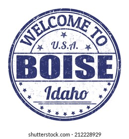 Welcome to Boise grunge rubber stamp on white background, vector illustration