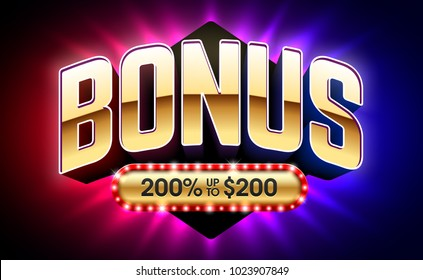 Welcome Bonus casino banner, first deposit bonus, vector illustration