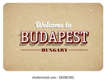 Welcome to Budapest - Vintage greeting card