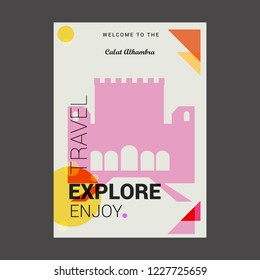 Welcome to The Calat Alhambra Andalusia, Spain Explore, Travel Enjoy Poster Template