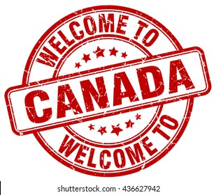 welcome to Canada. stamp