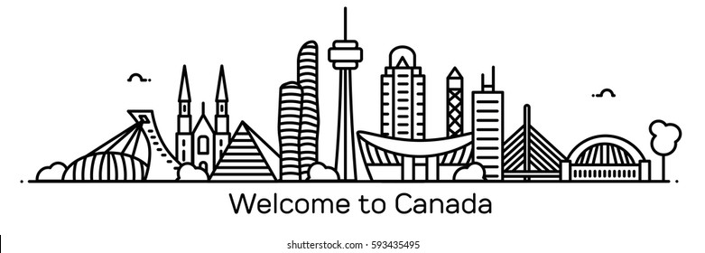 Welcome to Canada. Vector illustration