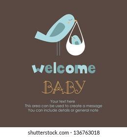welcome card design. vector illustration