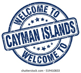 welcome to Cayman Islands. stamp.