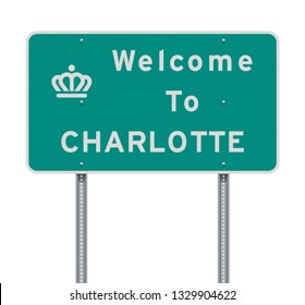 Welcome to Charlotte road sign