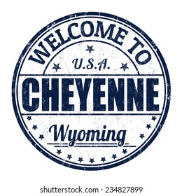 Welcome to Cheyenne grunge rubber stamp on white background, vector illustration