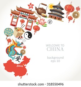 welcome to China background