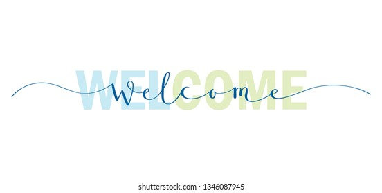 WELCOME colorful typography banner