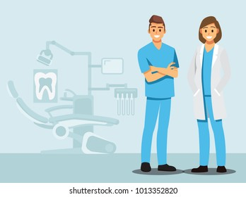 Welcome Dental care , Vector illustration cartoon character