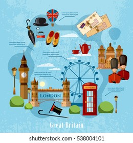 Welcome to England, London concept. Travel to Great Britain, signs. United Kingdom vector
