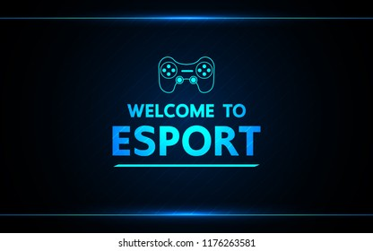 Welcome to e-sport  vector abstract technology game design for business future.