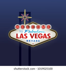 Welcome to Fabulous Las Vegas blue background