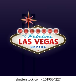 Welcome to Fabulous Las Vegas Nevada Vector Illustration